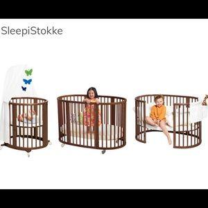 Full stokke sleeping bed system bassinet- toddler